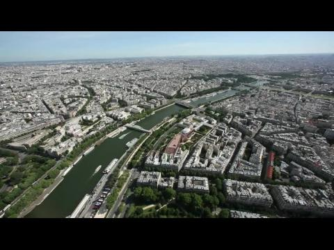 View of the Seine River and Bridges - Paris, France