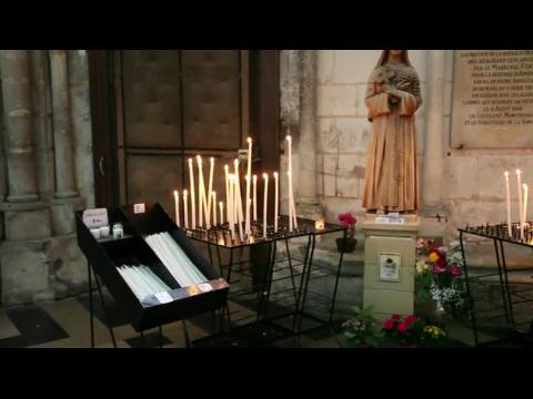 Cathedral of Our Lady of Amiens, Interior, South Choir Aisle, Statue of St. Rita - Amiens  - France